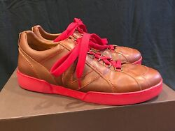 Rare Louis Vuitton Sneaker Brown Leather W/ Red Bottom Shoes Lv 9.5 Us 11.0 11.5