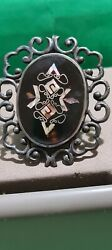 Faberge Antique Imperial Russian Brooch 84 Silver