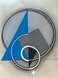 American Hard Edge Modern Geometrical Abstract Composition Dennis Florio Nyc