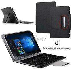Us For 7 8 10 10.1 Tablets Universal Folio Leather Case Keyboard Stand Cover