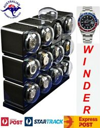 Boxy Fancy Brick Carbon Fibre Look Automatic Watch Winder For 12watches12fcf-e4