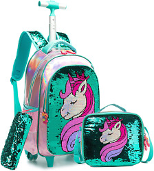 Backpack Wheeled Rolling with Lunch Bag Pencil Case School Bags Backpacks Girls $80.32