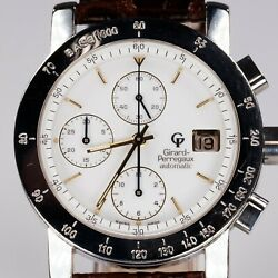 Girard Perregaux Menand039s Stainless Steel Automatic Chronograph Watch Gp7000