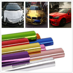 Car Color Changed Wrap Film Gloss Stretch Chrome Mirror Vinyl Decals Air Release
