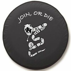 Join Or Die Tire Cover On Black Vinyl - Optional Camera Port