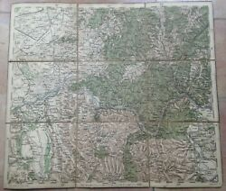 Orsova And Environs Romania 1878 Anonymous Detailed Antique Map On Linen