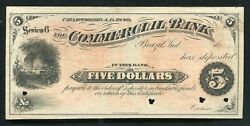 1883-84 5 The Commercial Bank Brazil, Indiana Obsolete Remainder Note