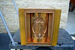 + Nice Older In The Wall Style Tabernacle With Key + Ahb36 Chalice Co.