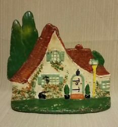 Antique Red Roof Cottage Doorstop, Littco Products