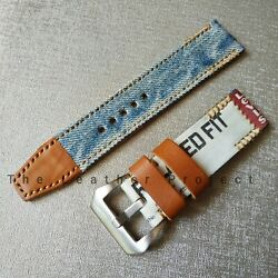 Handmade Jeans Watch Strap Made From Leviand039s Jeans Free Buckle