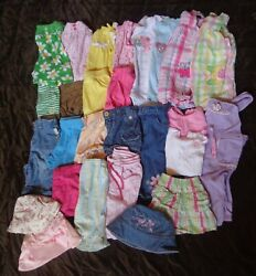 28 Piece Childrens Size 6-9 Month Summer Girls Child Clothing Lot Outfits 6t 9t
