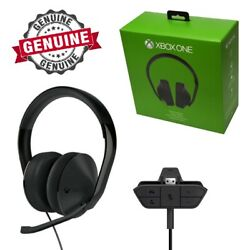 Genuine Microsoft Xbox One Stereo Gaming Chat Headset Fits Old And New Controllers