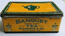 Banquet Tea Tin, Mccormick And Co. Importers And Packers Baltimore, Md
