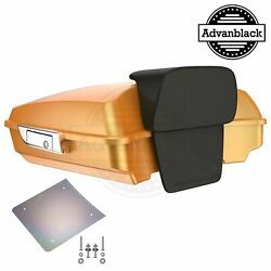 Advanblack Hard Candy Gold Flake Razor Tour Pack Trunk For 97-20 Harley Touring