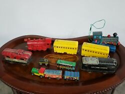 Vintage Schilling Marx Tin Toy Japan Usa Old Trains Battery Ops Tin Toy Lot