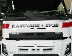Advertising Plate For Volvo Fmx 2013 - 2021 Truck Grill White Uv Proof Nameboard