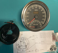 """Speedometer - Tachometer Yih Tyan Motorcycle Untested Analogue Black Face 4.75"""""""