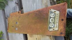 International Farmall 806 Ihc High Crop Tractor Front Left Side Panel And Emblem
