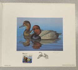 Wtdstamps - 1988 Florida - State Duck Stamp Print Ron Louque Remarque
