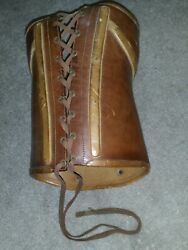 Antique Medical Scoliosis Corset Leather Back Brace Small 1' X 9 Child Petite