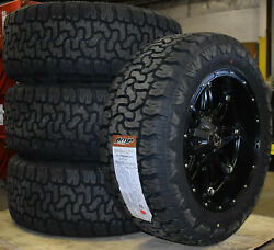 20x10 Fuel D531 Hostage Black Wheels 33 Amp At Tires 6x5.5 Chevy Suburban Tahoe