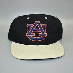 Auburn Tigers Ncaa Vintage 90's Nu Image Back Spell Out Snapback Cap Hat - Nwt