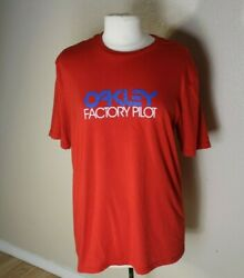 Oakley Factory Pilot Mens T Shirt Size US Large Red $13.99
