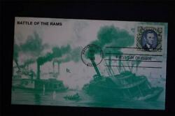 Abraham Lincoln Wse 90c Green Stamp Fdc Kmc Venture Sc2433c Battle Of The Rams
