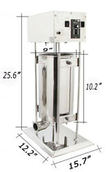 10l Commercial Electric Vertical Sausage Stuffer Stainless Steel Meat Filler New