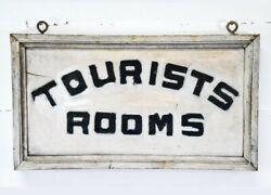 Antique Early American Tourist Room Trade Sign Maine
