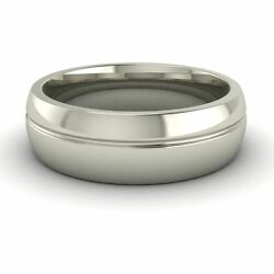 Solid 14k White Gold Engagement And Wedding Band Menand039s Ring Fine Jewelery