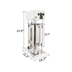 15l Commercial Electric Vertical Sausage Stuffer Stainless Steel Meat Filler New