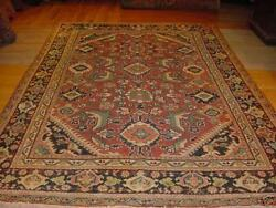 Antique Estate Rug Ca1900and039s Sultanabad Sarouk Mahal 7x10 Veg. Dye - 590