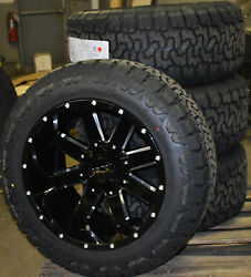 Ion 141 20x12 Black Wheels 33 At Tire Package 8x170 Ford Super Duty F250 F350