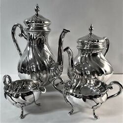 Carl M Cohr Denmark Sterling Silver Coffee And Tea Set