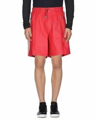 Dsquared2 Red Leather Bermuda Shorts Size Italy 46 - Small
