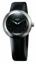 Ikepod Duopod 004 Dots Watch Men's Business Suit Black Silver Ipd004silb Silicon