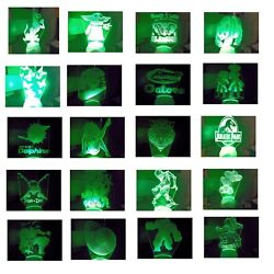 3d Led Illusion Usb 7color Table Night Light Lamp Bedroom Child Gift Christmas