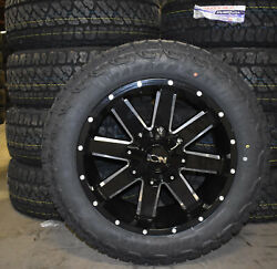 20x9 Ion 141 Black Wheels Rims 32 At Tires Package 5x5 Jeep Gladiator Jt