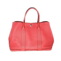 Hermès Rose Jaipur Country Leather Garden Party 36 Tote