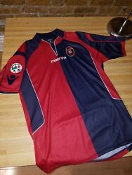 Cagliari 2009/2010 Macron Menand039s Official Maglia Jersey Size Xl W Serie A Patch