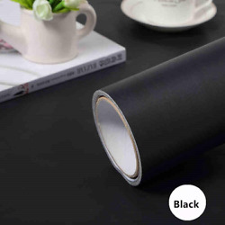 Black Adhesive Contact Paper Removable Peel And Stick Vinyl Film Wallpaper Easy
