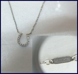 Authentic And Co Horse Shoe 750/18k White Gold Pendant Necklace No Box