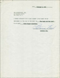 Patricia Neal - Document Signed 02/05/1961