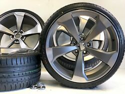 20 Inch X9 Wheels Rims Tires 5 Spoke Style Fit Audi A8 S8 R8 A6 S6 A5 S5 Roter