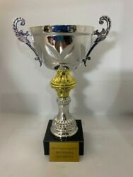 Trophy Cup Gold/silver W/ Marble Base 9