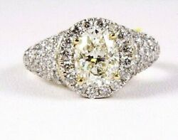Natural Oval Yellow Diamond Solitaire Ladyand039s Ring 14k Yellow Gold 3.46ct