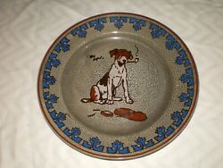 Antique Royal Doulton Titanian Signed Cecil Aldin Dogs Smoking A Pipe 9.5 Plate