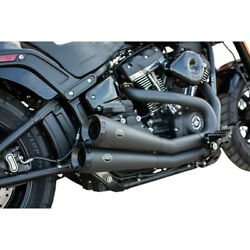 Sands Cycle Grand National 2-2 Fat Bob Exhaust - Black | 550-0760