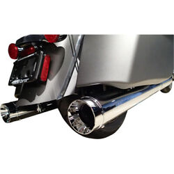 Supertrapp Mufflers - Chrome - Indian Touring With Luggage | 140-21770